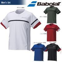 バボラ Babolat テニスウェア メンズ レディース ショートスリーブシャツ BAB-1662 ...