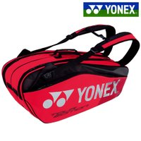 ヨネックス YONEX テニスバッグ・ケース ラケットバッグ6 リュック付 テニス6本用 フレイムレッド BAG1802R-596 2018年新色