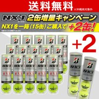 「増量キャンペーン」BRIDGESTONE(ブリヂストン)NX1(4球入)1箱=17缶〔68球〕BB...