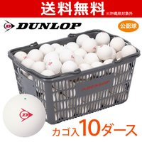 DUNLOP SOFTTENNIS BALL ダンロップ ソフトテニスボール 公認球 バスケット入 10ダース 120球