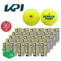 「KPIオリジナルモデル」DUNLOP ダンロップ 「FORT フォート [2個入]1箱 30缶/60球 」テニスボール 『即日出荷』