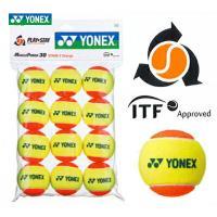 YONEX(ヨネックス)「マッスルパワーボール30(STAGE2 ORANGE) TMP30(12個...