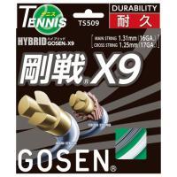 『即日出荷』 GOSEN(ゴーセン)「ハイブリッド剛戦X9」ts509 硬式テニスストリング(ガット...