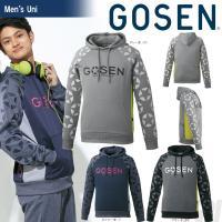 「2017新製品」GOSEN(ゴーセン)「UNI 裏起毛ストレッチパーカー UW1702」テニスウェ...
