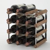 ウッドラック 12本用  <商品説明> ワインを効率よく整理するためのラックです。 手持ちのワインを...