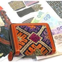 ヤオ族手織り布地折り財布sysa-05