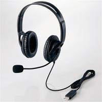 エレコム 両耳ヘッドセット HS-HP28UBK ブラック