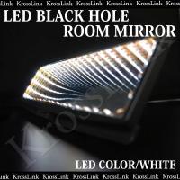 ルームミラー LED ブラックホール ホワイト/白 LED 汎用 取り付け カスタム/パーツ/内装 ...