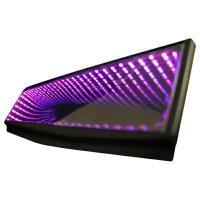 ルームミラー LED ブラックホール ピンク/桃 LED 汎用 取り付け カスタム/パーツ/内装 光...