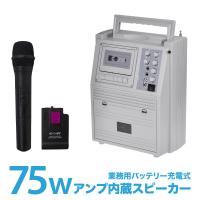 ワイヤレスマイクセット MP3/カセット 録音再生 カラオケ リモコン  マイク3種【 マイクアンプ...