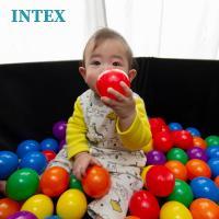 ボールプール ボール カラーボール おもちゃ 100個/55mm 収納バッグ入り INTEX社製/ ...