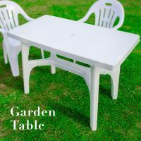 ガーデン テーブル 長方形 110cm×58cm パラソル対応 軽量3.6kg 耐荷重50kg 1卓...