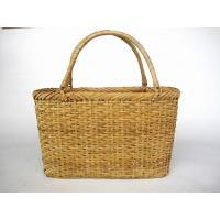 籐 手提げかご (ナチュラル) バッグ 買い物カゴ 39-190