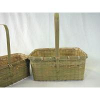 【手付き篭】 青角長手付篭 2入 竹製 《50-737》
