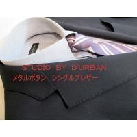 ◎STUDIO BY D'URBAN春夏物メタルボタンブレザー◎2ボタン シングル◎サイドベンツ 襟...