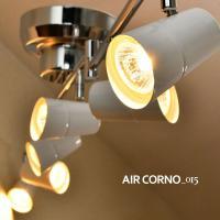AIRCORNO エアコルノ015  シルバーの支柱とホワイトのセードがリビングや寝室をモダンでオシ...