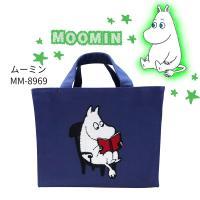 ムーミン トートバッグ サガラスクエアトート  ムーミン (MM-8969) バック 鞄 ムーミン サガラ刺繍 かわいい キャラクターグッズ