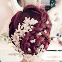 ワイヤー固定なので、花を動かすことが可能です。色々な使い方ができるので、便利なアイテムです。結婚式の...
