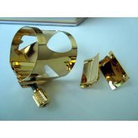 ソプラノサックスサックス用 オプティマム ゴールド リガチャープラスティック製キャップ付正確にリード...