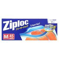 旭化成 ジップロック フリーザーバッグ M (45枚) 食品保存袋