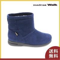 ■商品概要■ madras walk マドラスウォーク ショートブーツ 2064 色:ネイビー アッ...