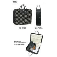(着物バッグ 横型 印伝調)日本製着物バッグ 男性 女性 和装バッグ 家紋柄 市松柄 小桜柄 黒 52(ns42)