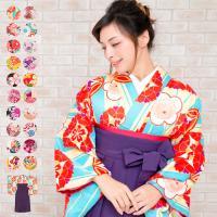 二尺袖着物と無地袴、帯、二尺袖襦袢をコーデしたお得な4点セットです。  セット商品には、以下4点が含...