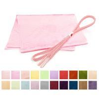 夏用の正絹帯揚げ帯締めセットです。 帯揚げは涼し気な絽の帯揚げです。帯締めも夏用の組紐の帯締めになり...