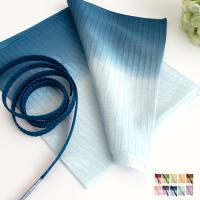[商品説明]夏用の正絹帯揚げ帯締めセットです。帯揚げは見た目にも涼し気なぼかしの入った絽の帯揚げです...