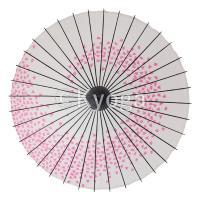 和傘 紙傘 尺4 桜渦 白地ピンク 継柄 舞踊傘 踊り傘
