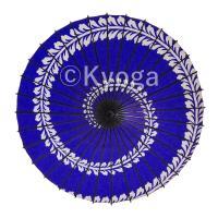 和傘 紙傘 こども用和傘 藤渦 紺 特選飾り糸 一本柄 舞踊傘 踊り傘