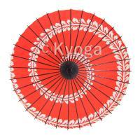 和傘 紙傘 こども用和傘 藤渦 朱色 特選飾り糸 一本柄 舞踊傘 踊り傘