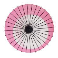 和傘 紙傘 こども用和傘 月やっこ桜流し ピンク 特選飾り糸 一本柄 舞踊傘 踊り傘