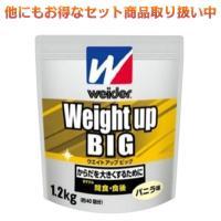 ウイダー プロテイン ウエイトアップビッグ バニラ味 1.2kg 森永製菓