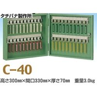 タチバナ製作所キーボックスC-40薄グリーン(携帯・壁掛兼用40本掛)です。  鍵の保管と整理に使い...