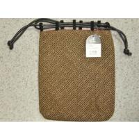 印伝風信玄袋(男の着物姿の小物入れ)<BR> サイズ:約24×約20cm、素材:レーヨン...
