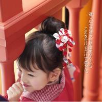 七五三 髪飾り 3歳 7歳 さくら パッチン つまみ髪飾り うさぎ つまみ細工 和風 ヘアーアクセサリー 鈴付き 卒園式 かわいい おしゃれ 女の子 お正月 日本製|kyotorurihinagiku|06