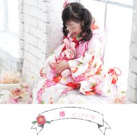 七五三 着物 3歳 フルセット 購入 きもの 被布セット セット 3歳用 子供 女の子 こども お祝い着 着物 襦袢 草履|kyotorurihinagiku|11