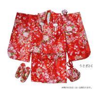 七五三 着物 3歳 フルセット 購入 被布セット うさぎ 七五三 3歳用 子供 女の子 こども お祝い着 着物 襦袢 草履 セット kyotorurihinagiku 09