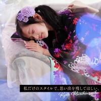 七五三 着物 7歳 購入 セット 『凛』 新作 四ツ身 七歳 お祝い着 豪華 ヘッドドレス|kyotorurihinagiku