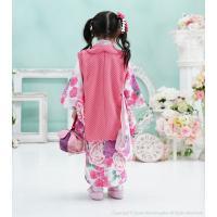 七五三 着物 3歳 フルセット 購入 被布セット 着物セット 水玉 ドット 3才 こども 子供 子供用 お祝い着 753 ピンク 可愛い|kyotorurihinagiku|04