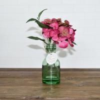 ヴァーチャルグリーン フィオナ ボトル ハイドランジア ピンク V04-5194 インテリアフラワー アジサイ 造花