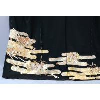 フルセット オーダー仕立付 手描正絹黒留袖  袋帯 長襦袢 帯締め帯揚げ to-168set かすみ文様に文箱 結婚式