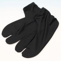 ストレッチ黒足袋  こはぜがなく、ストレッチ・口ゴムタイプ素材なので、気軽に靴下感覚で履いていただけ...