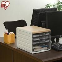 A4サイズまでの書類・クリアファイルなどを収納出来るレターケース☆ ナチュラルな木目調の天板で、オフ...