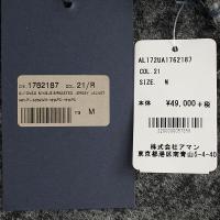 セール 国内正規品 ALTEA COPPER アルテア コッパー メンズ 千鳥格子柄 メランジ ウール 2B シングルジャケット 1762187 21 (グレー)special priceAM