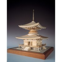 ウッディジョー 木製建築模型 「1/50 石山寺 多宝塔」レーザーカット加工