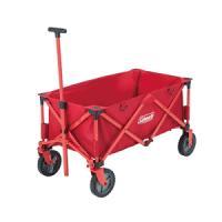 多くの荷物を楽に運べる簡単収束型ワゴン  大型タイヤでスムース楽々移動  ストッパー付タイヤでさらに...