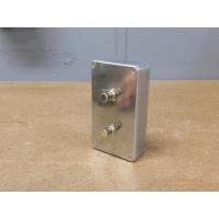 アルミボックススイッチ プッシュメタルタイプW|lamps1122