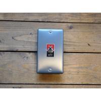 トグルスイッチプレート フラット&文字プレート 1個用 リード線付き インダストリアル|lamps1122